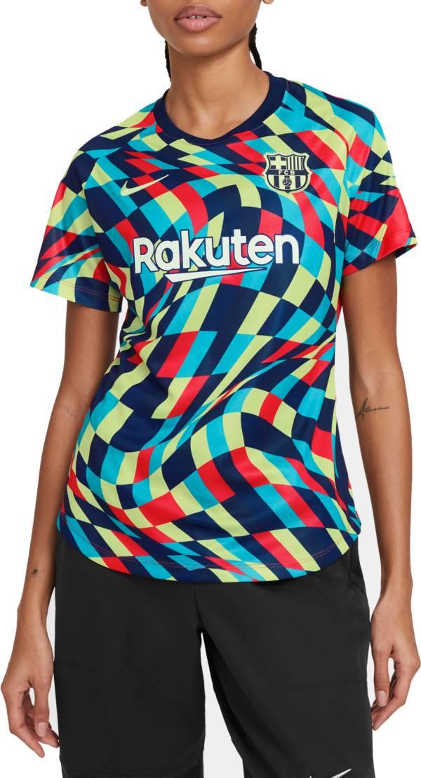 Nike Women's FC Barcelona Blue Prematch Jersey product image