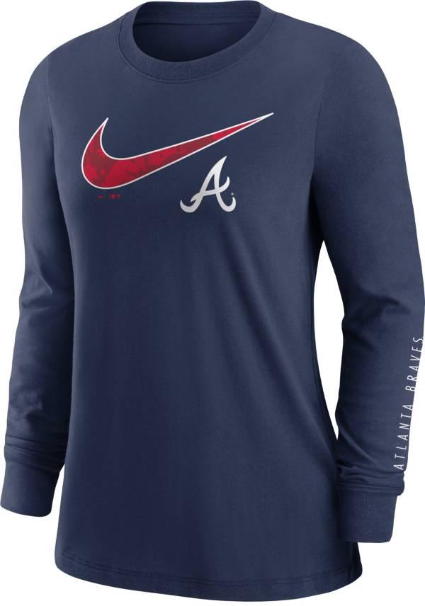 Nike Women's Atlanta Braves Navy Long Sleeve T-Shirt product image