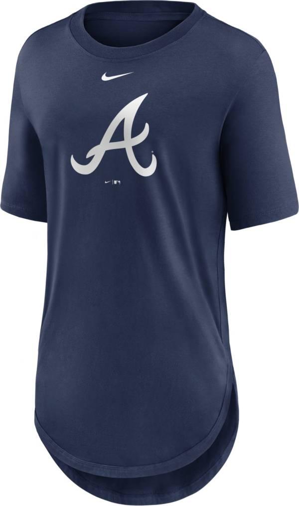 Nike Women's Atlanta Braves Navy Longline Logo T-Shirt product image