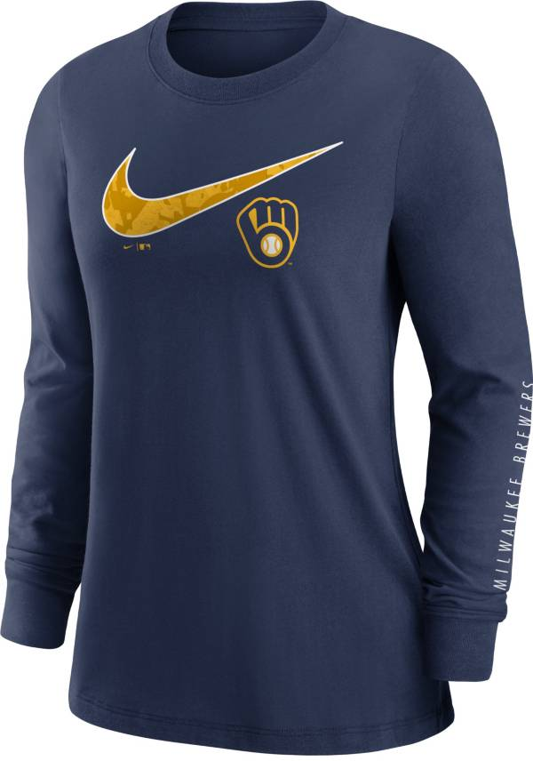 Nike Women's Milwaukee Brewers Navy Long Sleeve T-Shirt product image