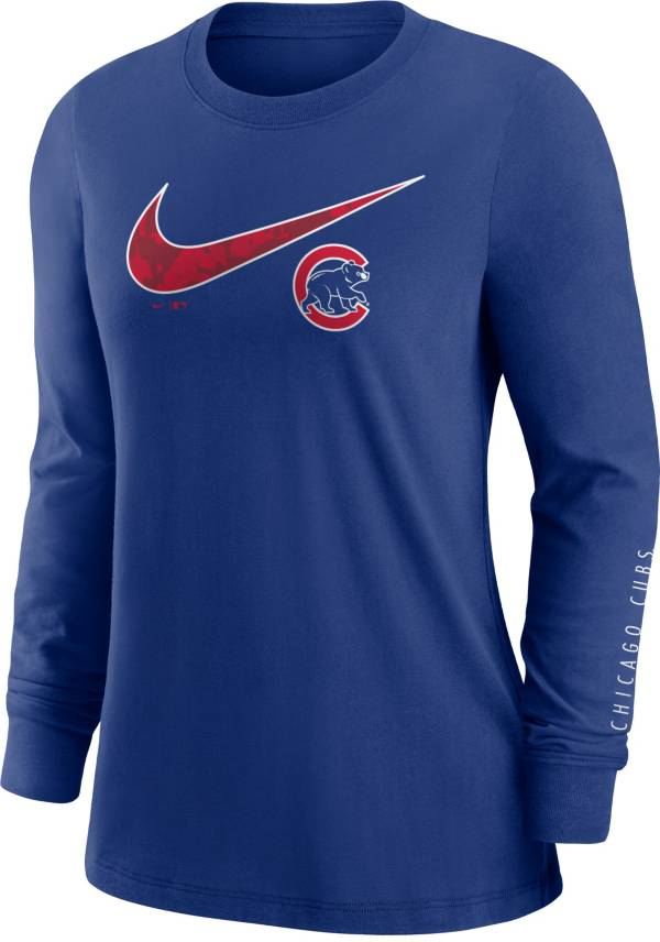 Nike Women's Chicago Cubs Blue Long Sleeve T-Shirt product image