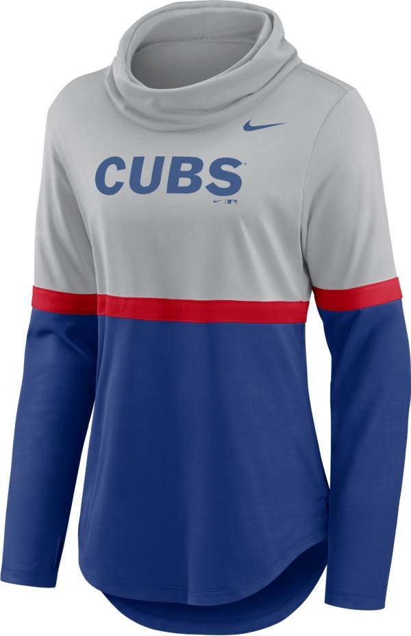Nike Women's Chicago Cubs Blue Cowl Neck T-Shirt product image