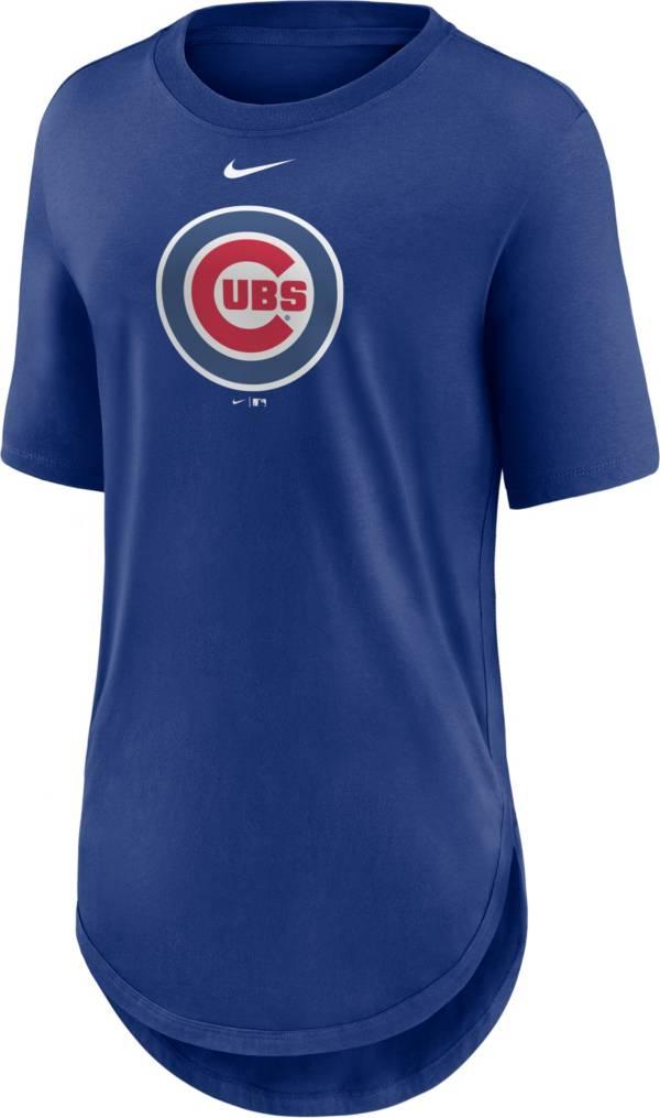 Nike Women's Chicago Cubs Blue Longline Logo T-Shirt product image