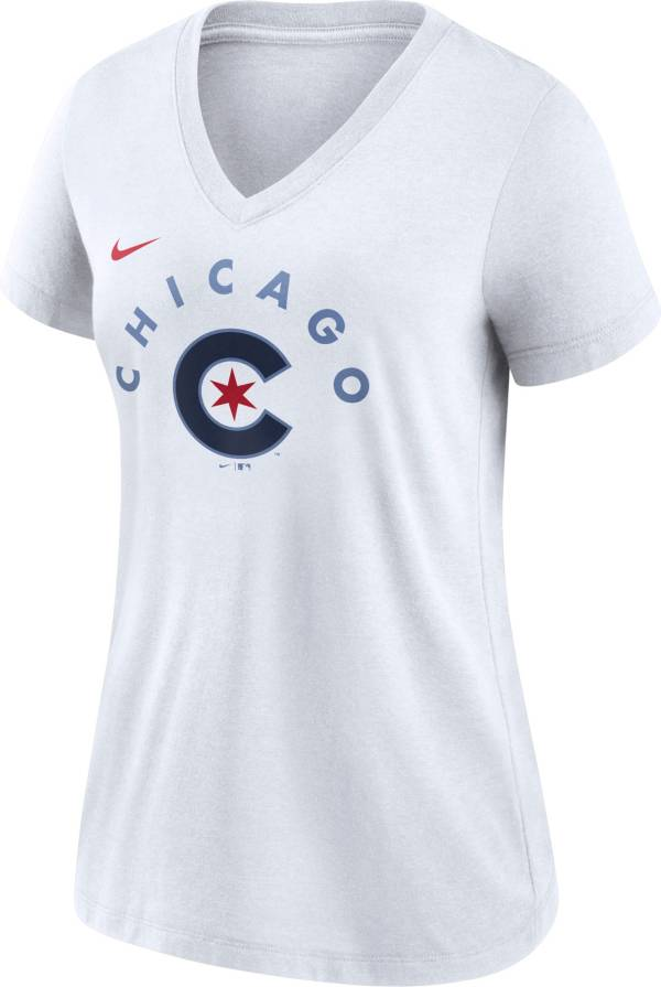 Nike Women's Chicago Cub Navy 2021 City Connect V-Neck T-Shirt product image