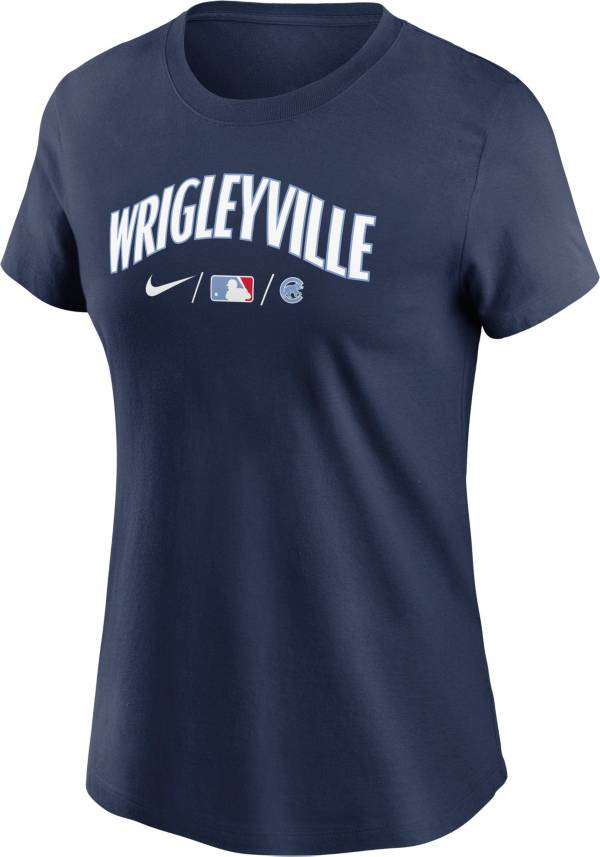 Nike Women's Chicago Cubs Navy 2021 City Connect Wordmark T-Shirt product image