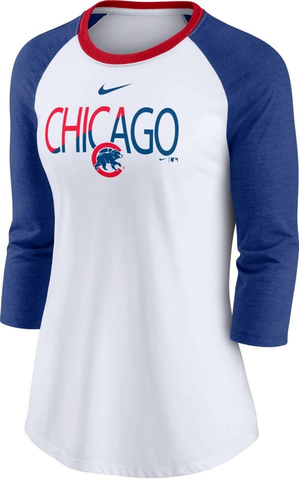 Nike Women's Chicago Cubs Red Raglan Three-Quarter Sleeve Shirt product image