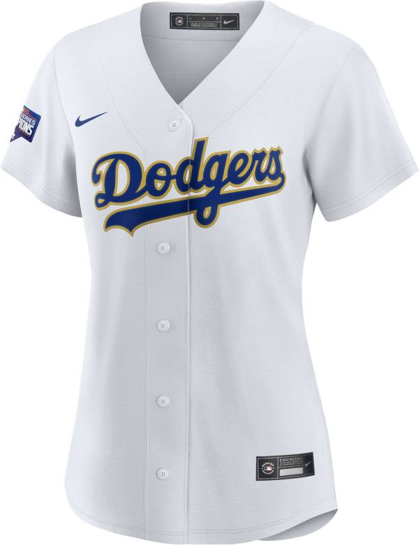 Nike Women's Replica Los Angeles Dodgers Gold Collection Cool Base White Jersey product image