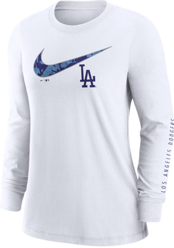 Nike Women's Los Angeles Dodgers White Long Sleeve T-Shirt product image