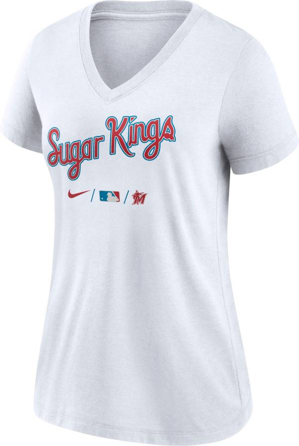 Nike Women's Miami Marlins White 2021 City Connect V-Neck T-Shirt product image