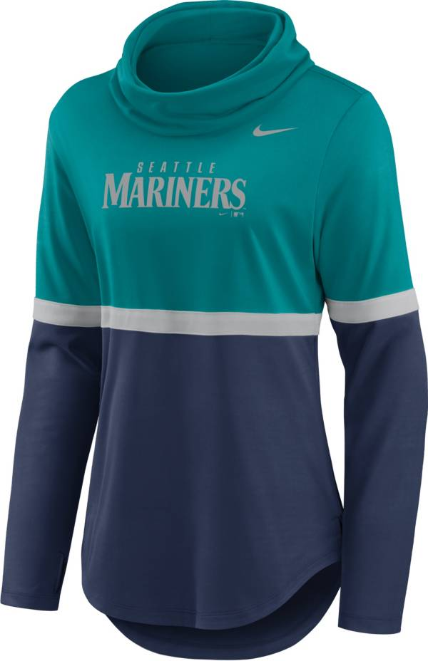 Nike Women's Seattle Mariners Navy Cowl Neck T-Shirt product image