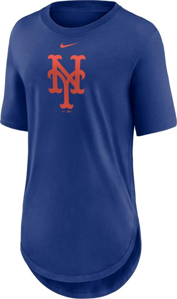 Nike Women's New York Mets Blue Longline Logo T-Shirt product image