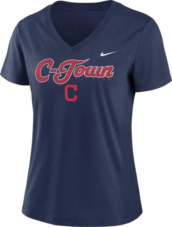 Nike Women's Cleveland Indians Navy Short Sleeve V-Neck T-Shirt product image