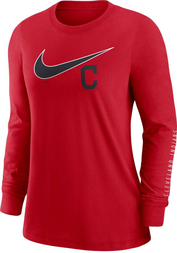 Nike Women's Cleveland Indians Red Long Sleeve T-Shirt product image