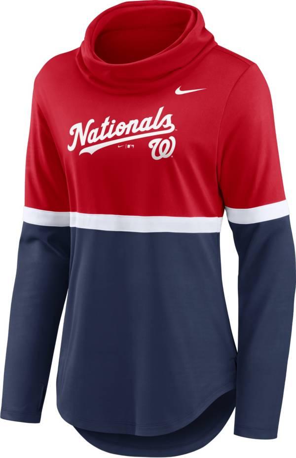 Nike Women's Washington Nationals Navy Cowl Neck T-Shirt product image