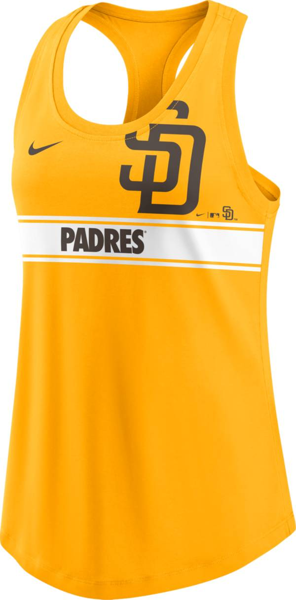 Nike Women's San Diego Padres Yellow Racerback Tank Top product image