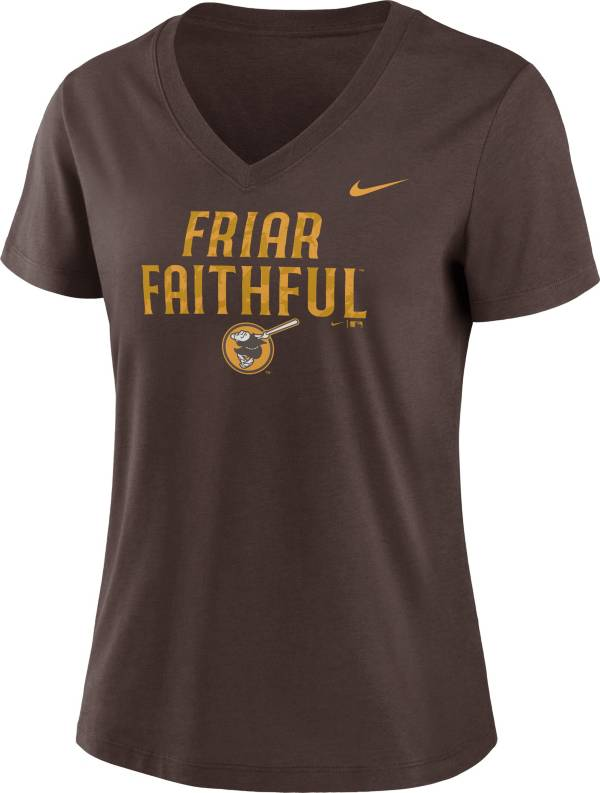 Nike Women's San Diego Padres Brown Short Sleeve V-Neck T-Shirt product image