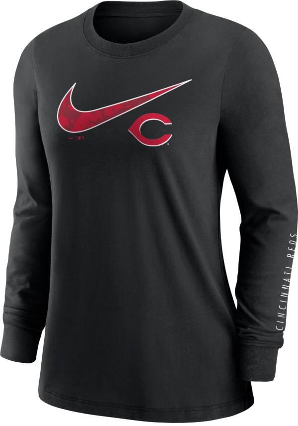 Nike Women's Cincinnati Reds Black Long Sleeve T-Shirt product image