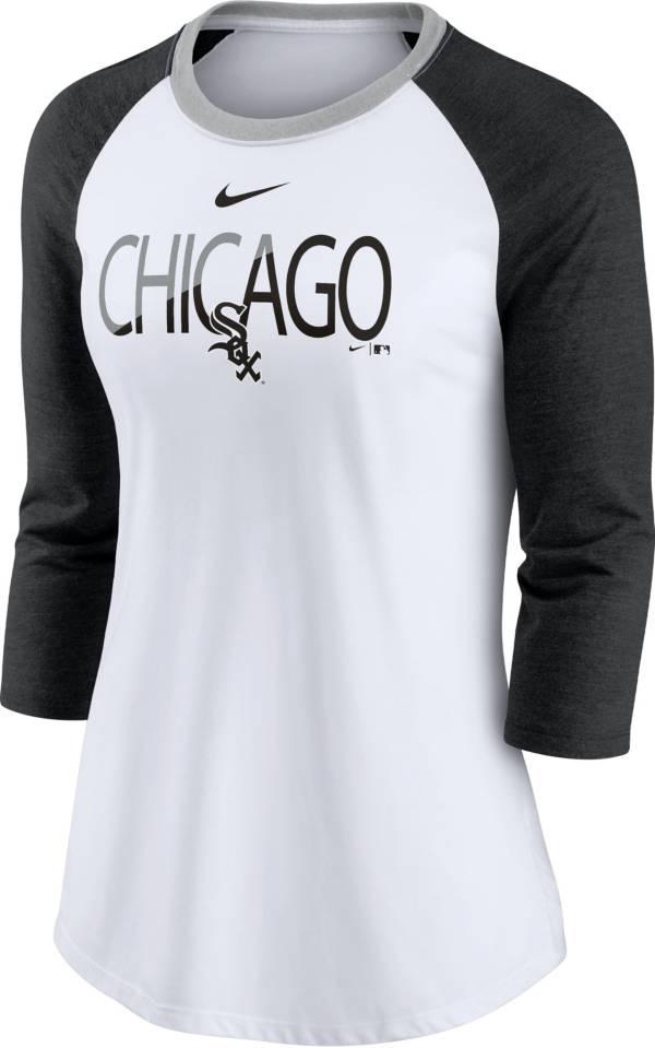 Nike Women's Chicago White Sox Black Raglan Three-Quarter Sleeve Shirt product image