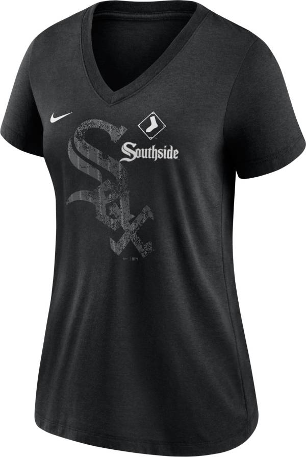 Nike Women's Chicago White Sox Black 2021 City Connect V-Neck T-Shirt product image