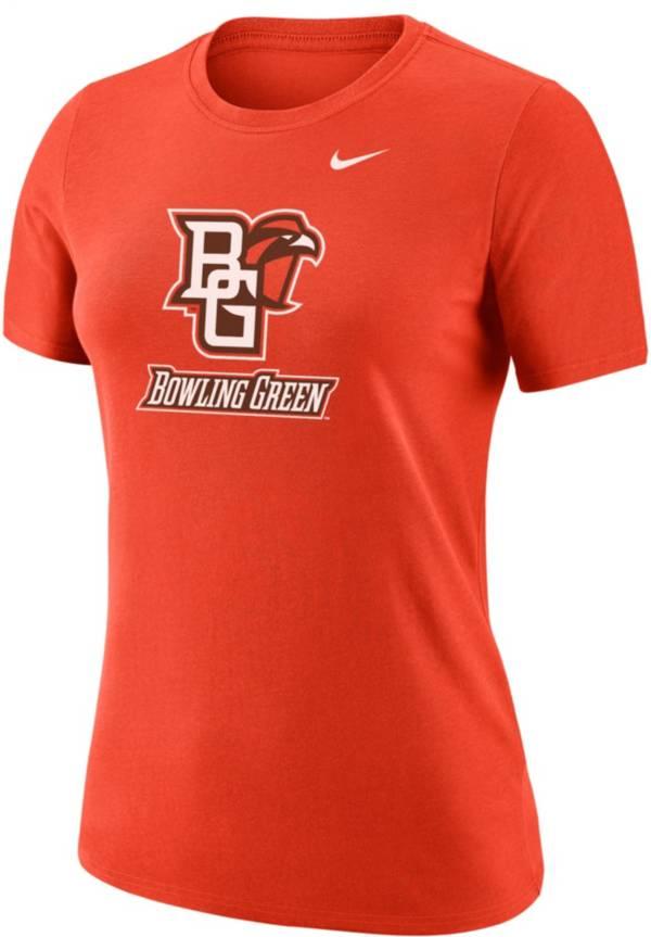Nike Women's Bowling Green Falcons Orange Dri-FIT Cotton T-Shirt product image