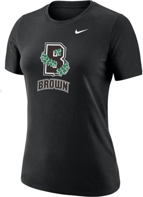 Nike Women's Brown University Bears Dri-FIT Cotton Black T-Shirt product image