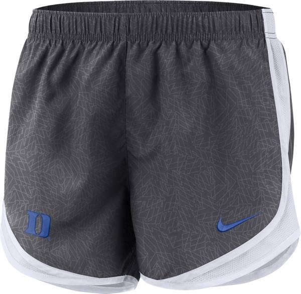 Nike Women's Duke Blue Devils Grey Dri-FIT Tempo Shorts product image