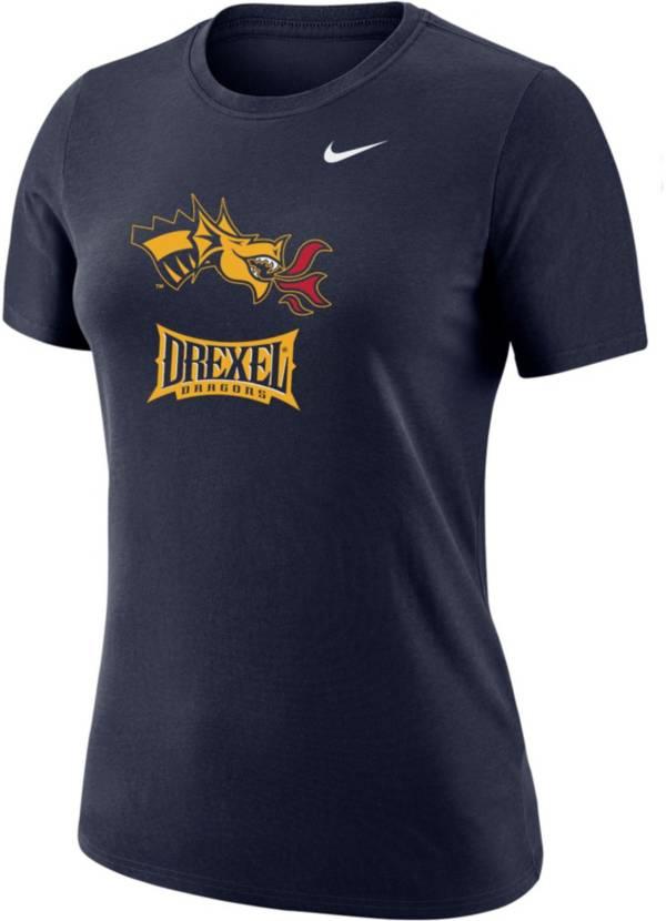 Nike Women's Drexel Dragons Blue Dri-FIT Cotton T-Shirt product image