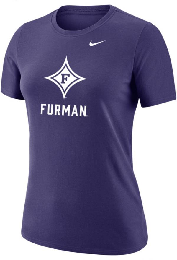 Nike Women's Furman Paladins Purple Dri-FIT Cotton T-Shirt product image