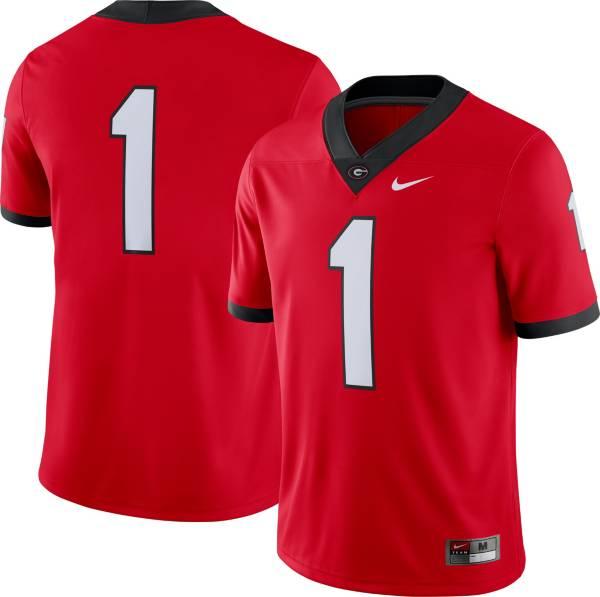 Nike Women's Georgia Bulldogs #1 Red Dri-FIT Game Football Jersey product image