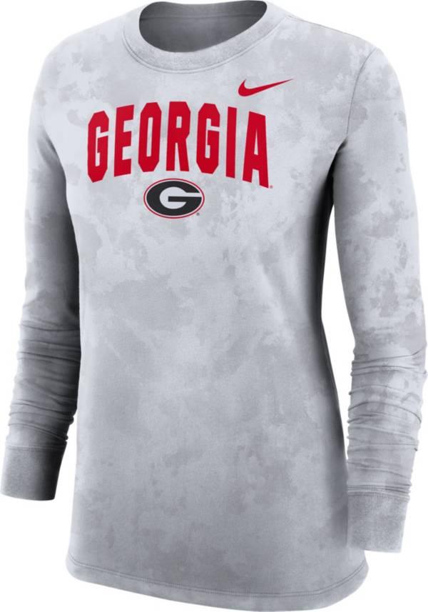 Nike Women's Georgia Bulldogs White Long Sleeve Cotton T-Shirt product image