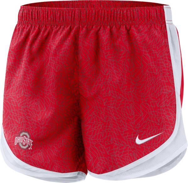 Nike Women's Ohio State Buckeyes Scarlet Dri-FIT Tempo Shorts product image