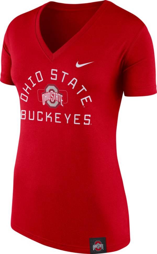 Nike Women's Ohio State Buckeyes Scarlet Slub V-Neck T-Shirt product image
