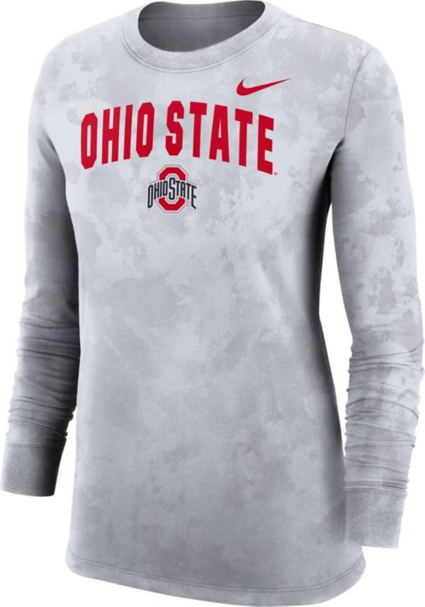 Nike Women's Ohio State Buckeyes White Long Sleeve Cotton T-Shirt product image