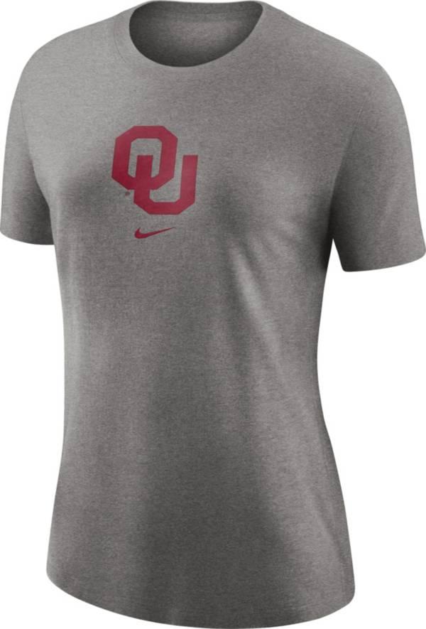 Nike Women's Oklahoma Sooners Grey Logo Crew T-Shirt product image