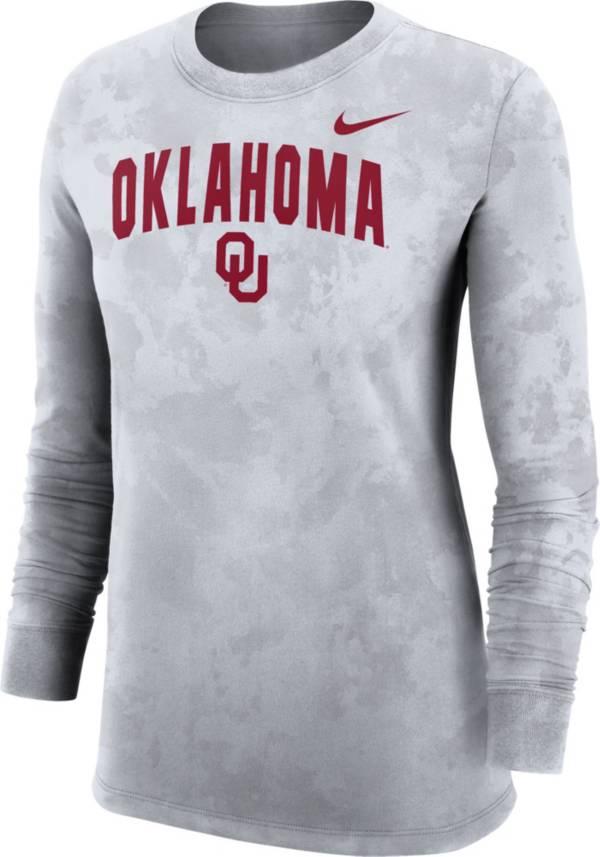 Nike Women's Oklahoma Sooners White Long Sleeve Cotton T-Shirt product image