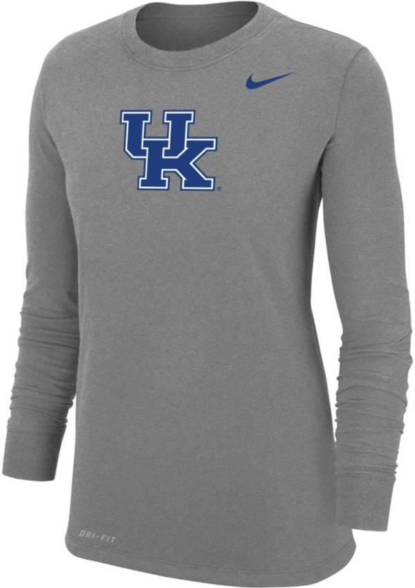Nike Women's Kentucky Wildcats Grey Dri-FIT Cotton Long Sleeve T-Shirt product image