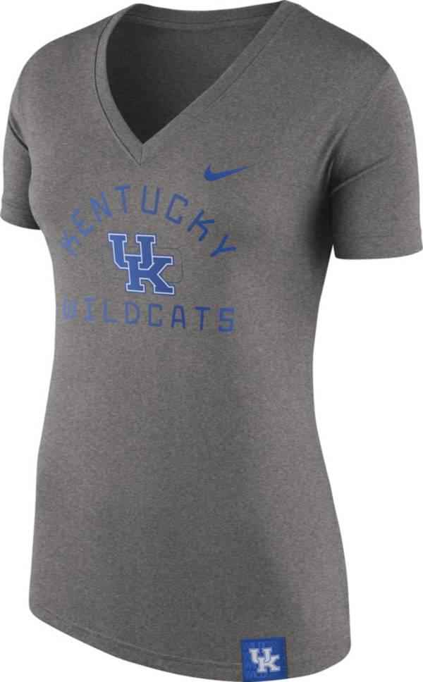 Nike Women's Kentucky Wildcats Grey Slub V-Neck T-Shirt product image