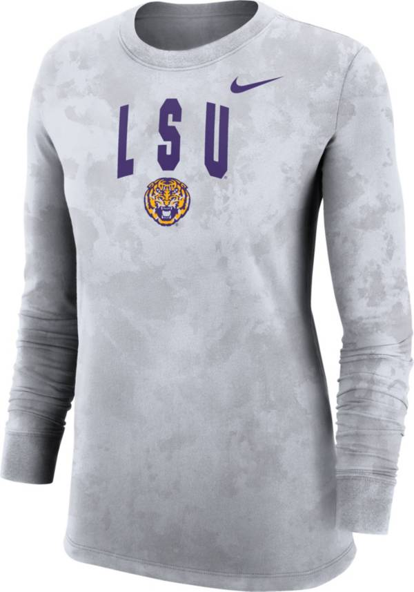 Nike Women's LSU Tigers White Long Sleeve Cotton T-Shirt product image