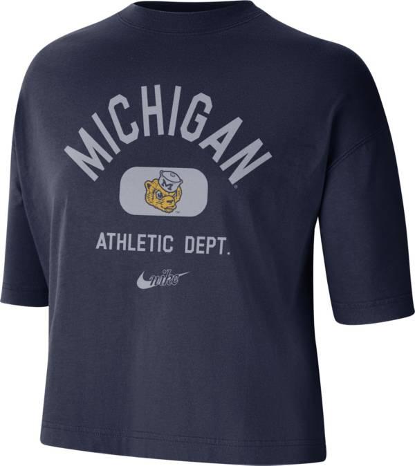 Nike Women's Michigan Wolverines Blue Boxy T-Shirt product image