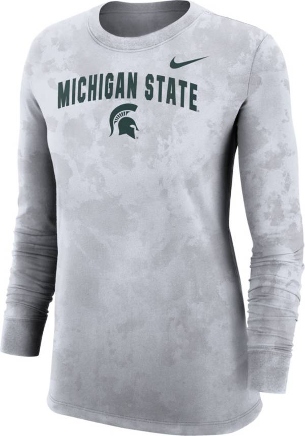 Nike Women's Michigan State Spartans White Long Sleeve Cotton T-Shirt product image