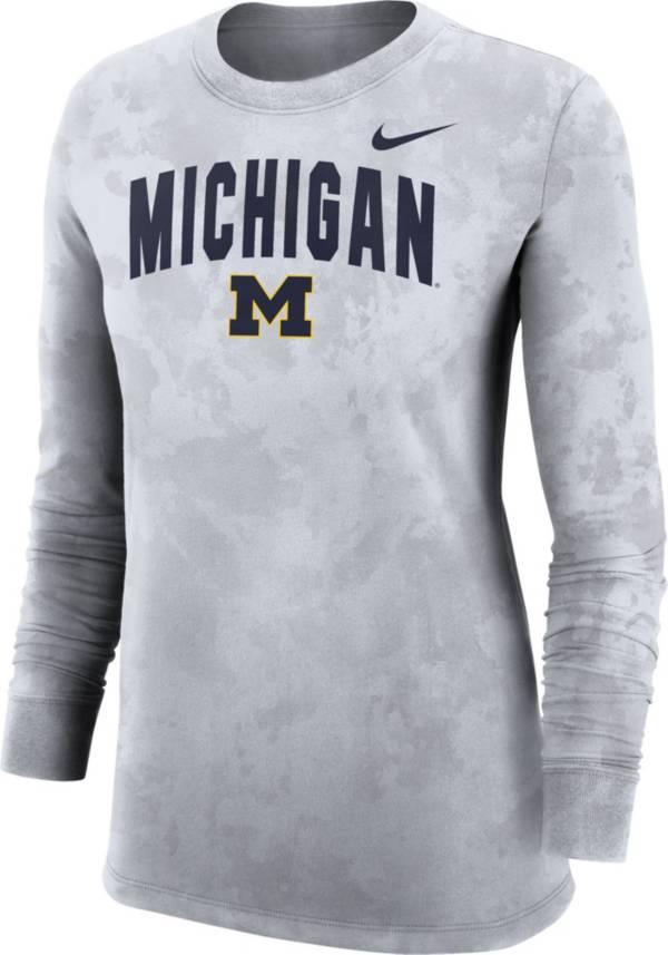 Nike Women's Michigan Wolverines White Long Sleeve Cotton T-Shirt product image