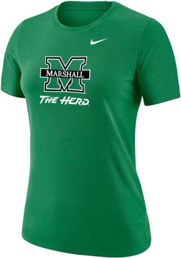 Nike Women's Marshall Thundering Herd Green Dri-FIT Cotton T-Shirt product image