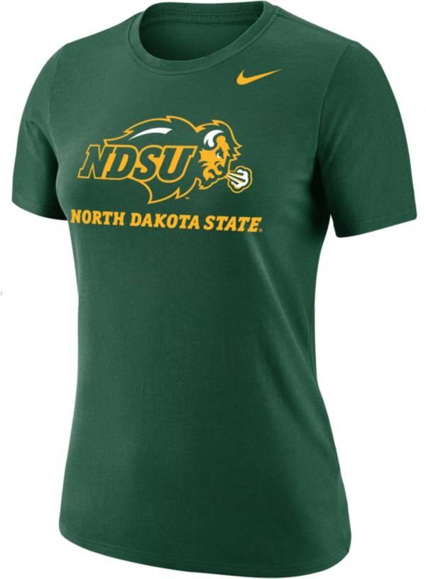 Nike Women's North Dakota State Bison Green Dri-FIT Cotton T-Shirt product image