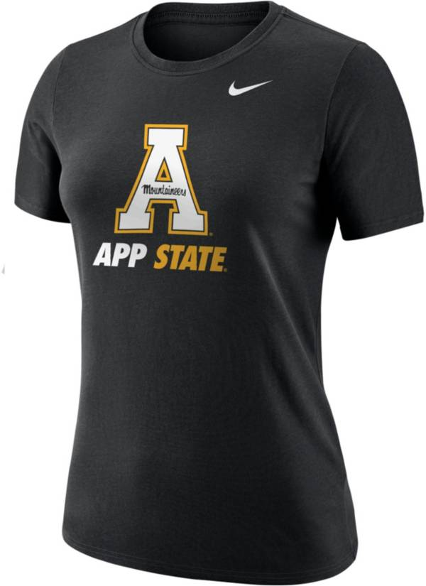 Nike Women's Appalachian State Mountaineers Dri-FIT Cotton Black T-Shirt product image