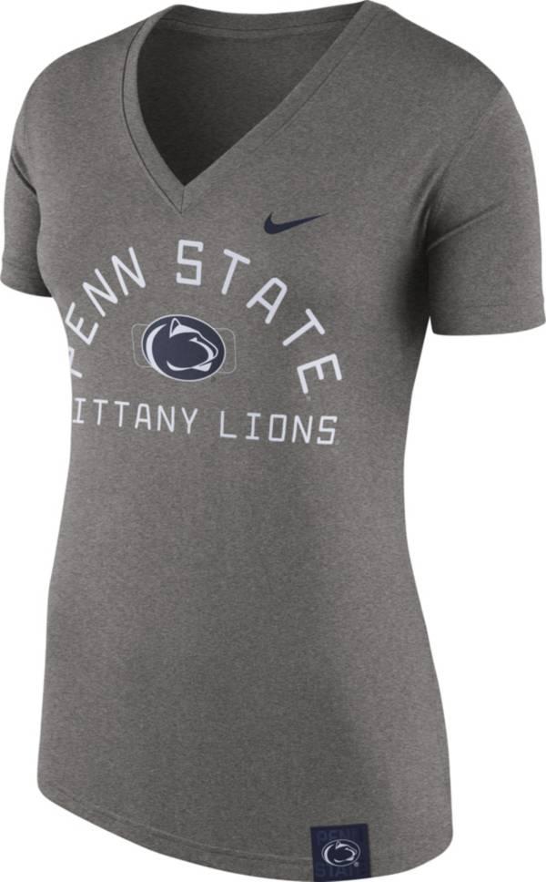 Nike Women's Penn State Nittany Lions Grey Slub V-Neck T-Shirt product image