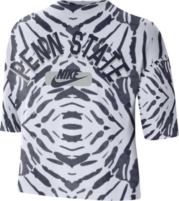 Nike Women's Penn State Nittany Lions White Tie-Dye Boxy Festival T-Shirt product image