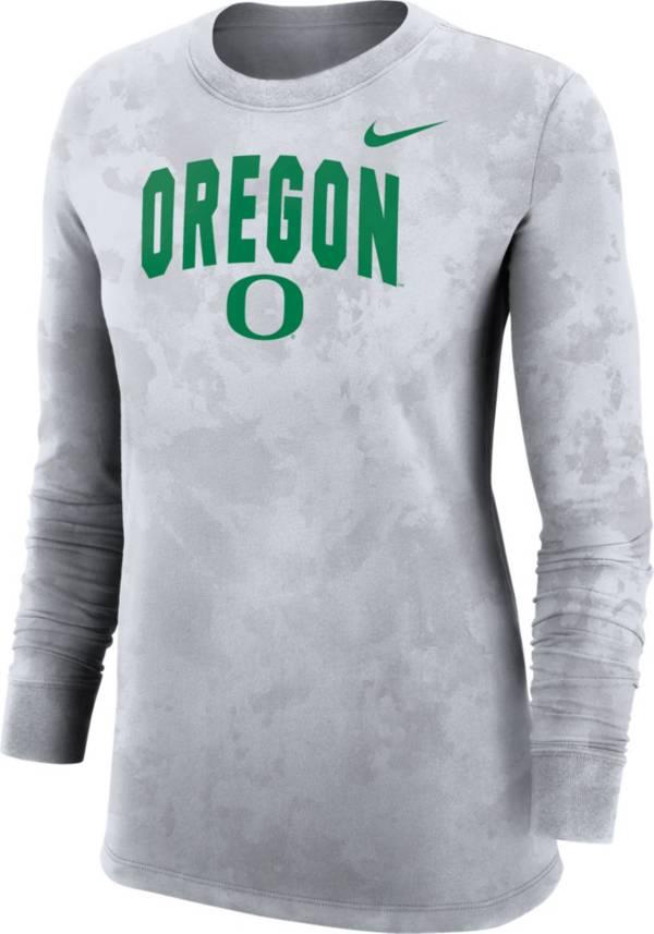 Nike Women's Oregon Ducks White Long Sleeve Cotton T-Shirt product image