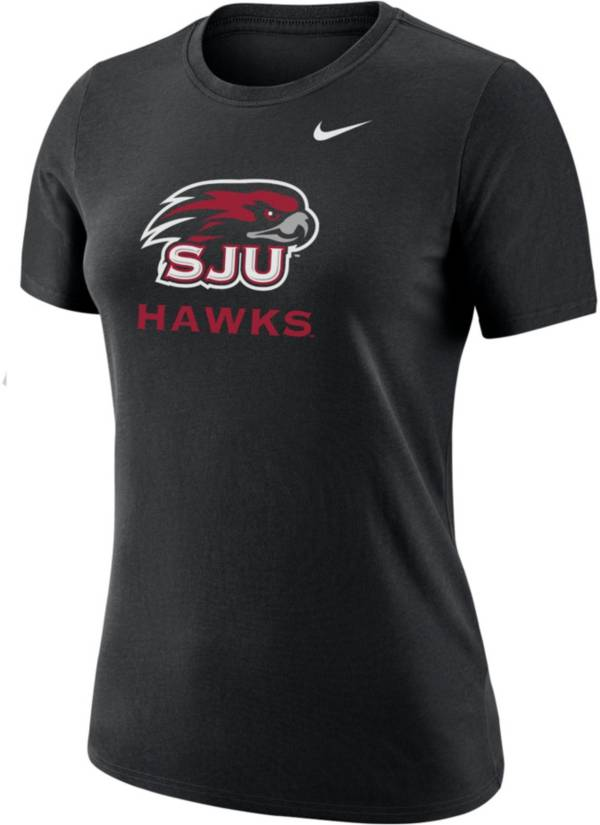 Nike Women's Saint Joseph's Hawks Dri-FIT Cotton Black T-Shirt product image