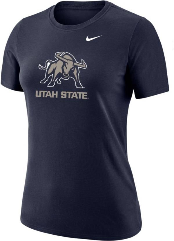 Nike Women's Utah State Aggies Blue Dri-FIT Cotton T-Shirt product image