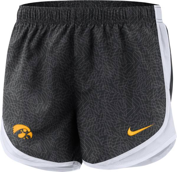 Nike Women's Iowa Hawkeyes Dri-FIT Tempo Black Shorts product image